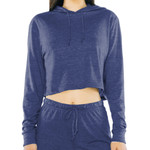 Ladies' Tri-Blend Cropped Hoodie Sweatshirt