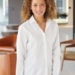 Women's Cotton/Poly Solid Point Collar Shirt